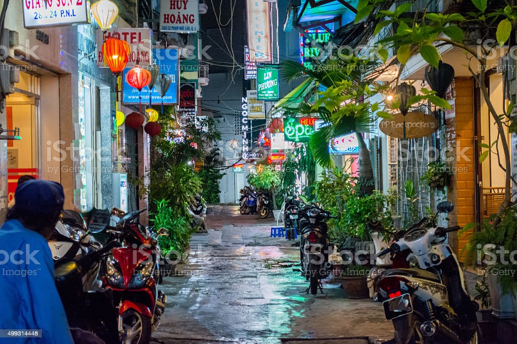 Bui Vien Street stock photo