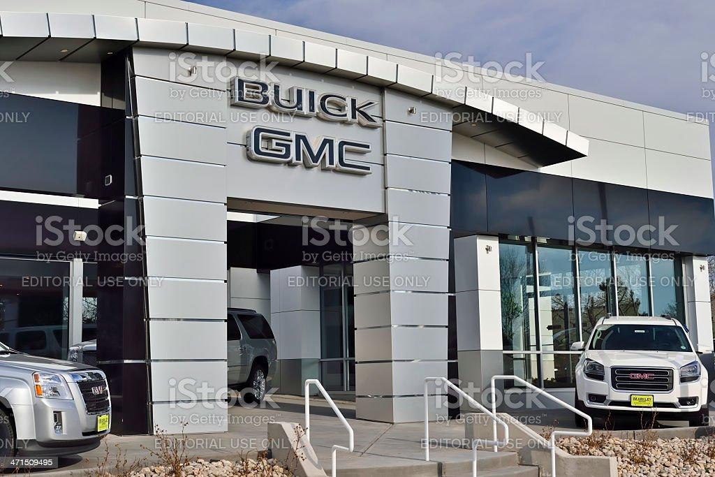 Buick, GMC Dealership stock photo