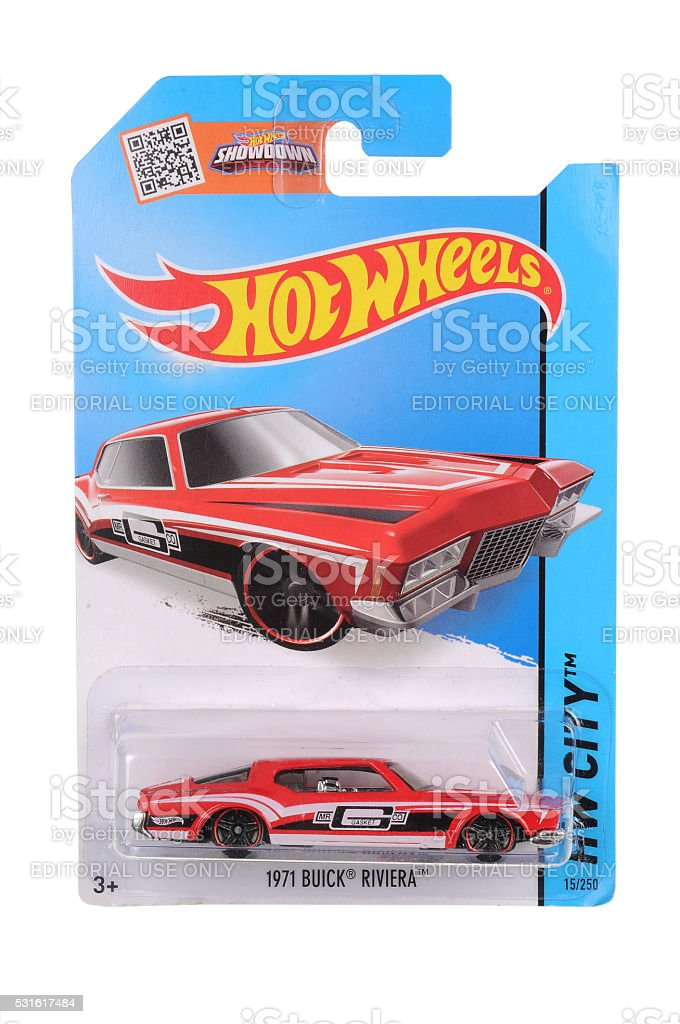 1971 Buick Riviera Hot Wheels Diecast Toy Car stock photo