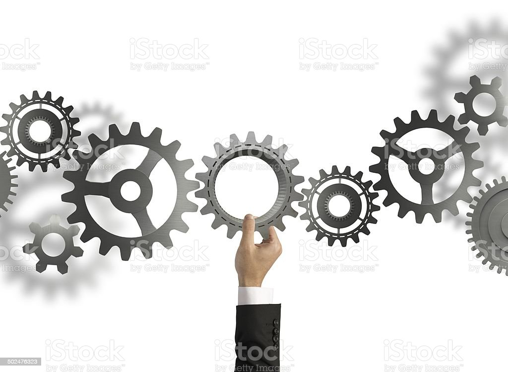 Build a business system stock photo