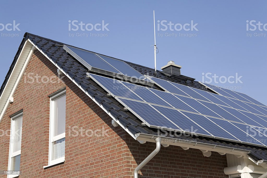 Build with solar energy (7) royalty-free stock photo