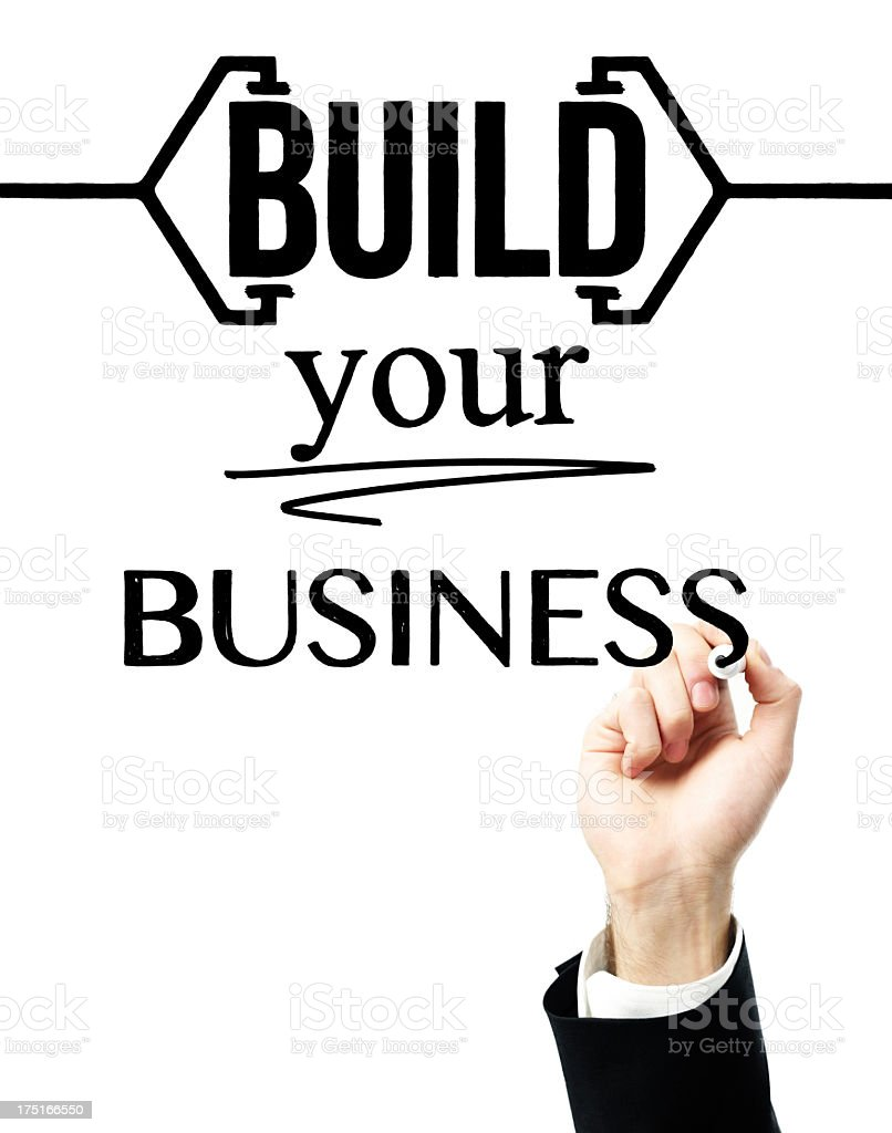 Build Your Business royalty-free stock photo