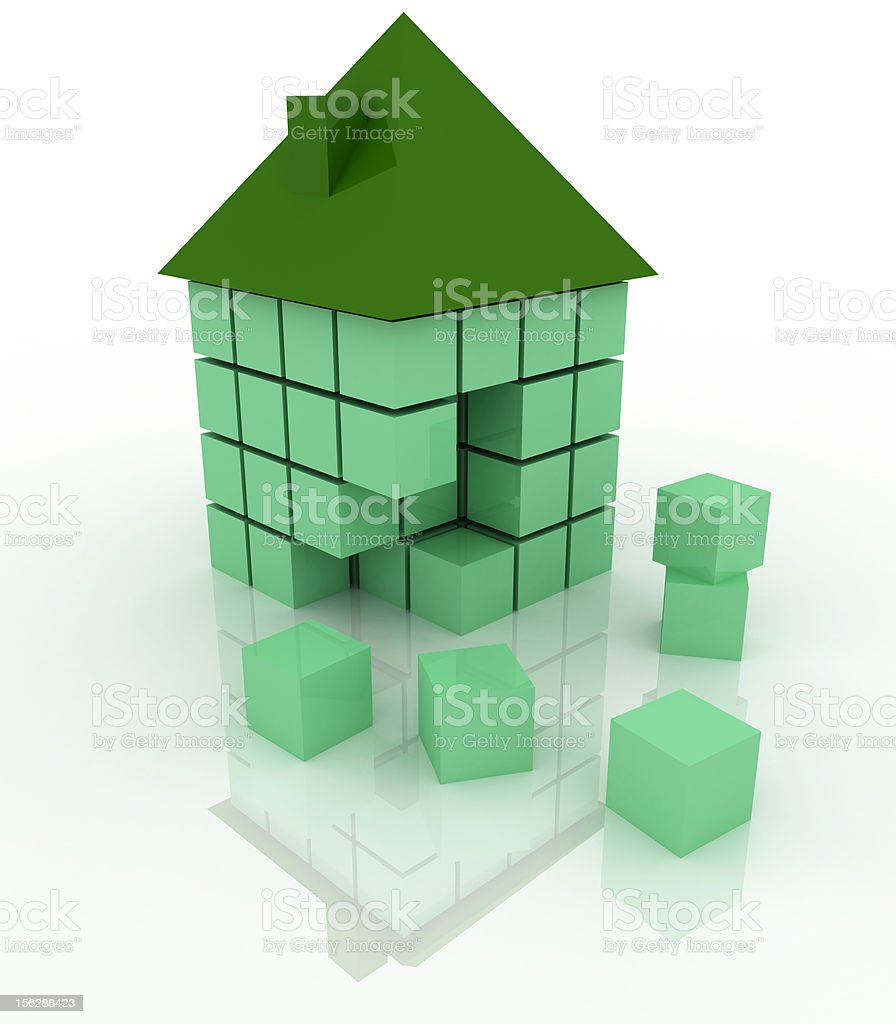 Build your ecologic home (isolated on white) royalty-free stock photo