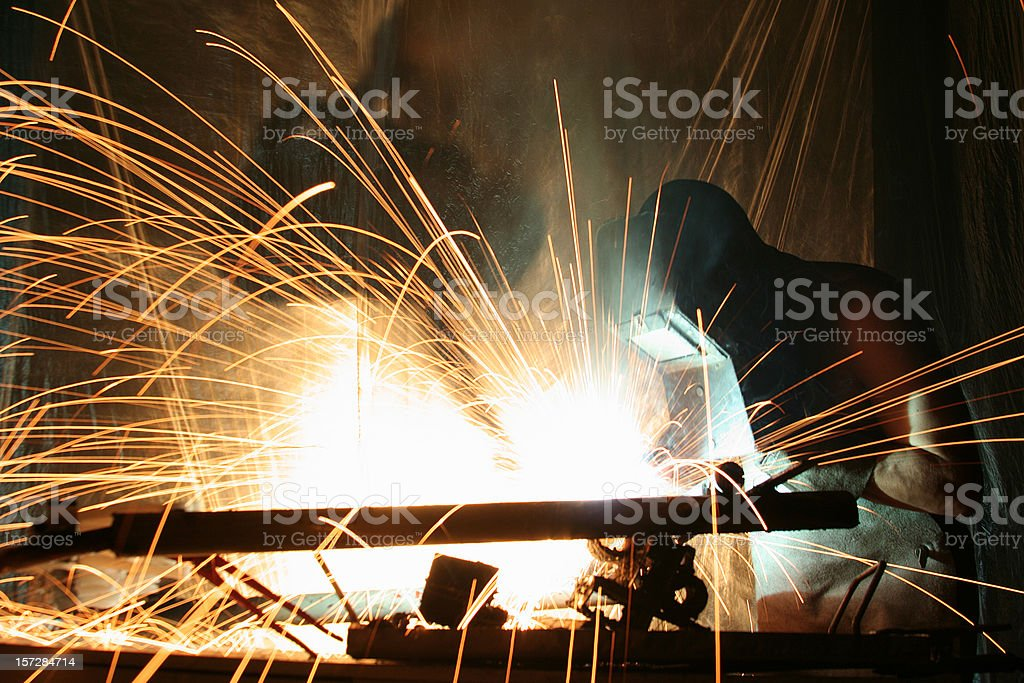 Builder at work royalty-free stock photo