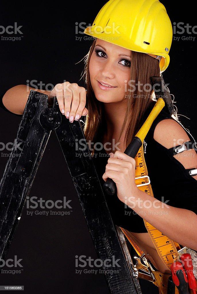 Builder girl. royalty-free stock photo