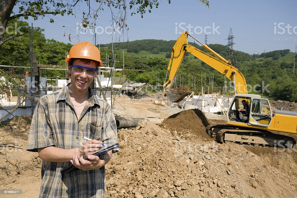 builder inspector royalty-free stock photo