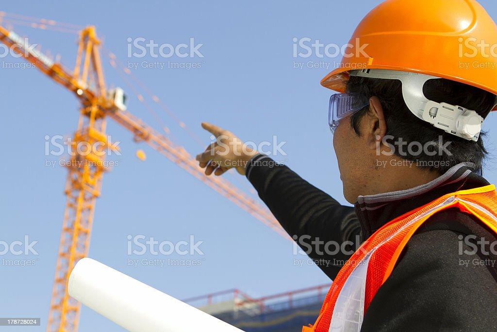 Builder Kontrollinspektoren Bauarbeiten Lizenzfreies stock-foto