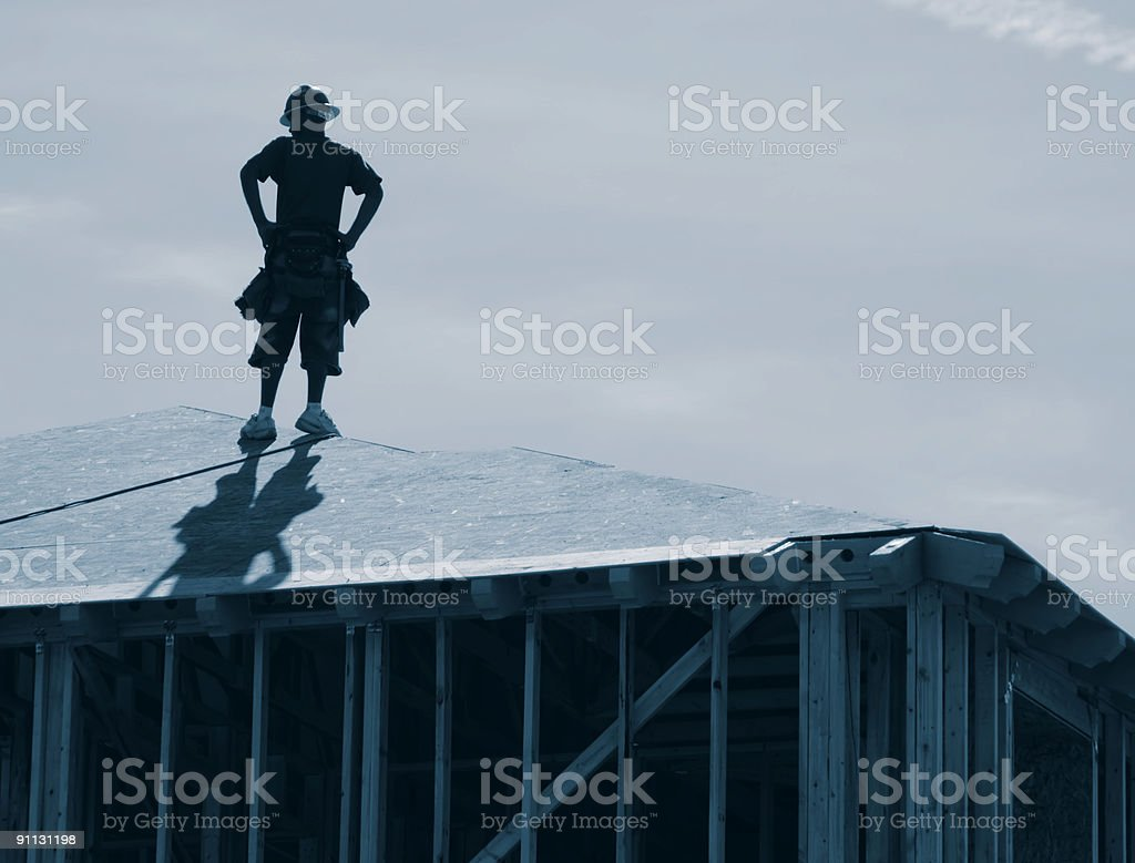 Builder on Rook royalty-free stock photo