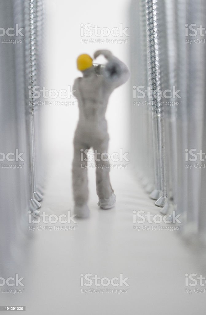 builder path verticle stock photo