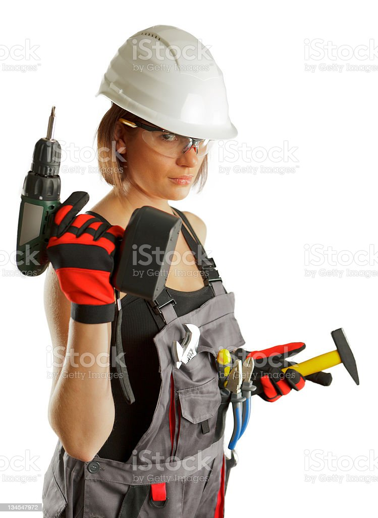 Builder Woman royalty-free stock photo