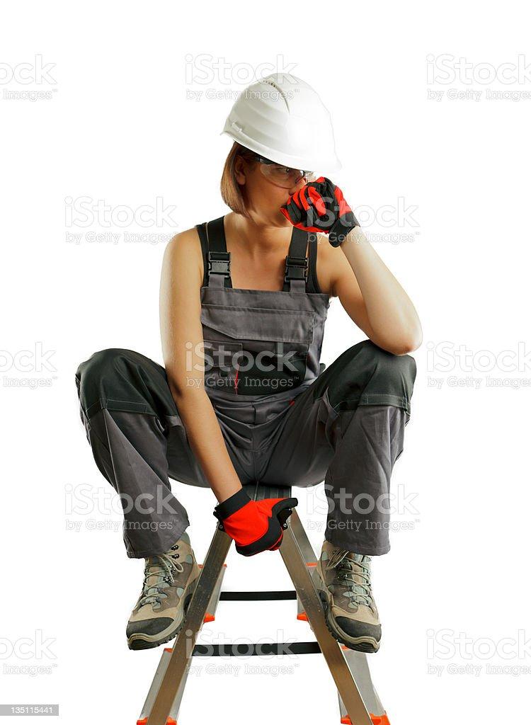 Builder Woman stock photo
