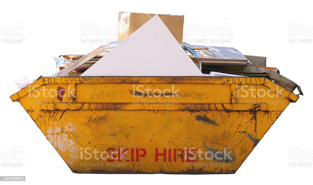 Builders Skip  - (with clipping path) stock photo