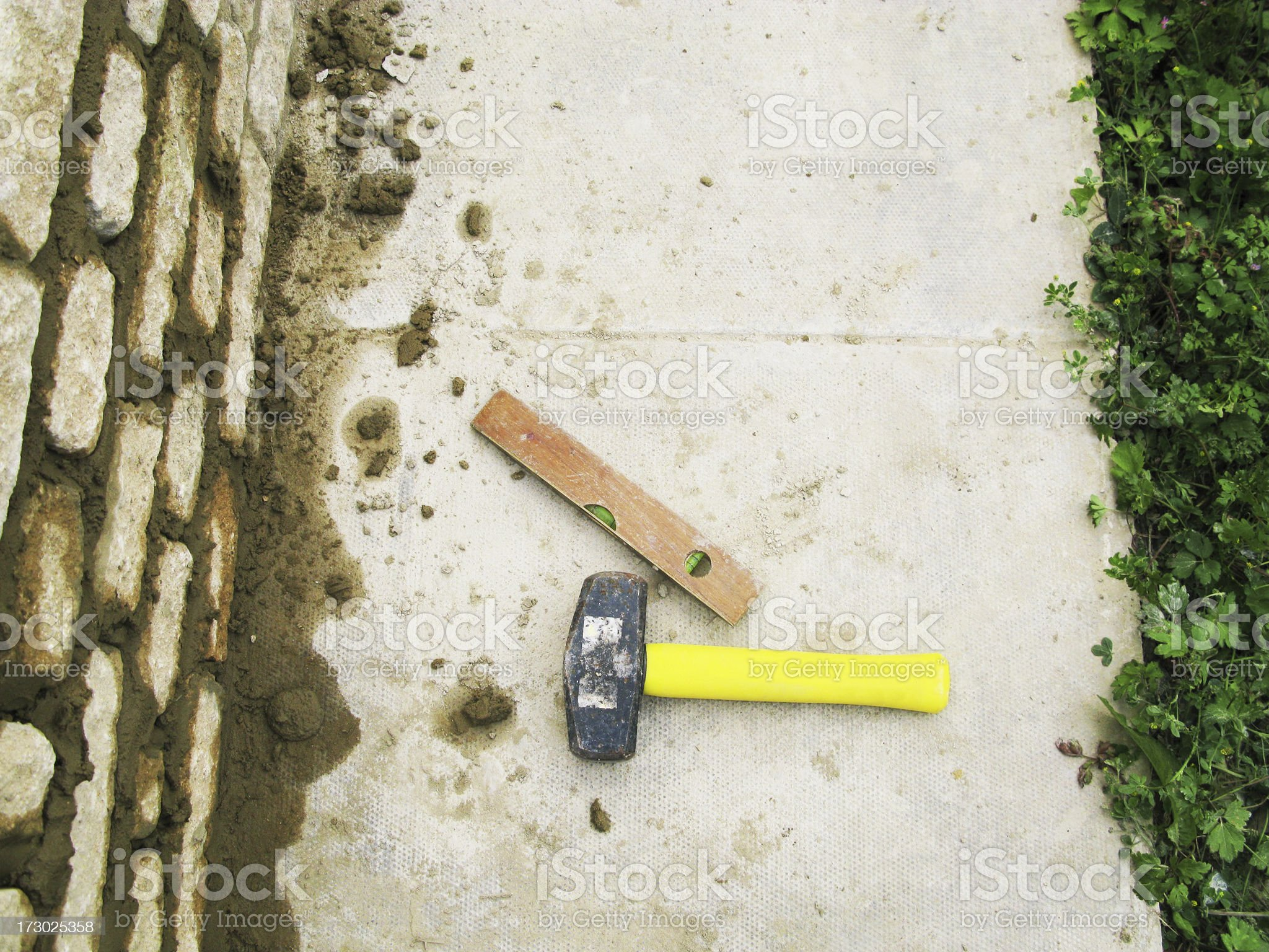 Builder's Tools. royalty-free stock photo