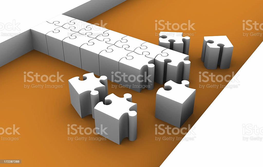 Building a bridge royalty-free stock photo