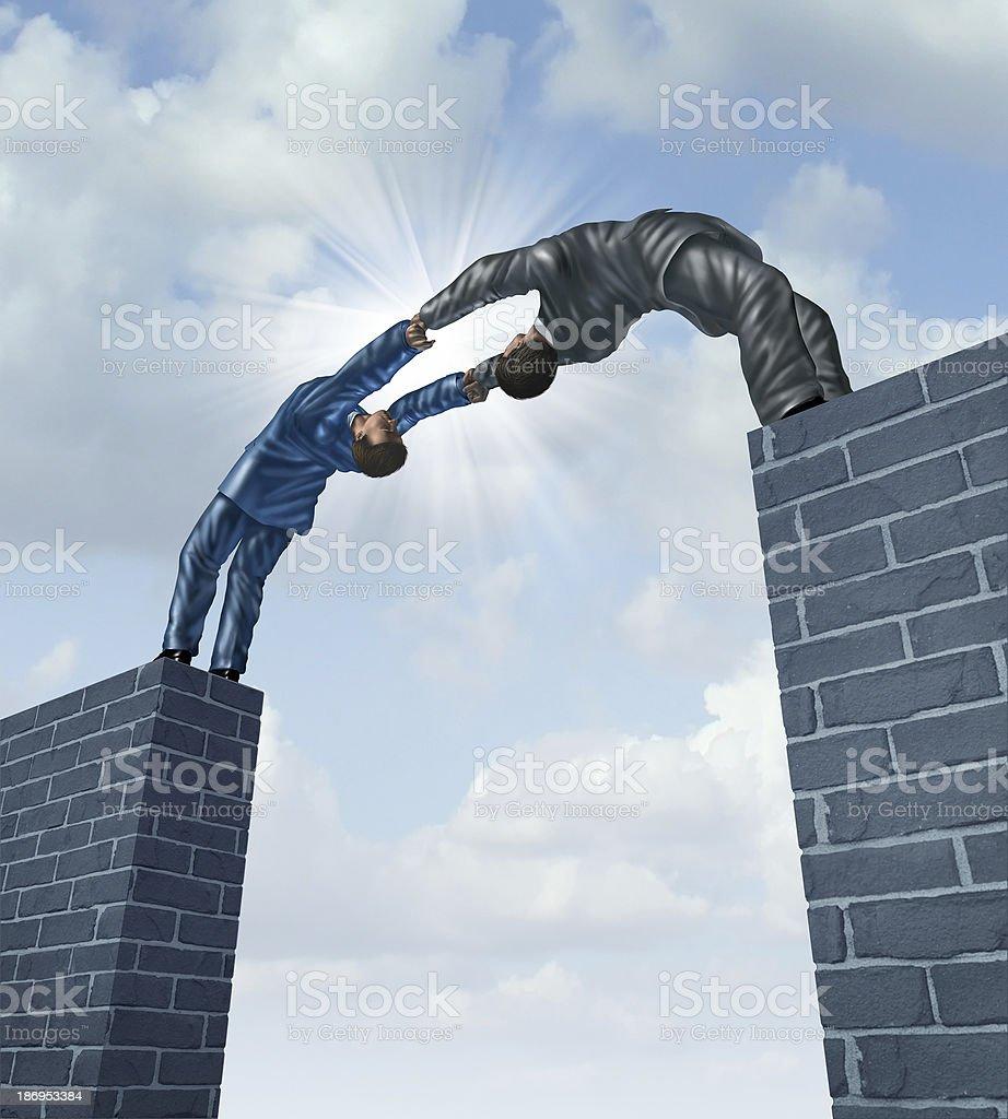 Building A Bridge royalty-free stock photo