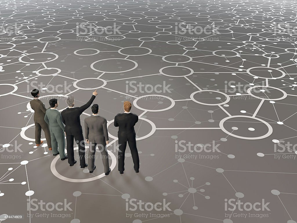 Building a business network: businessmen looking forward to new partnerships royalty-free stock photo