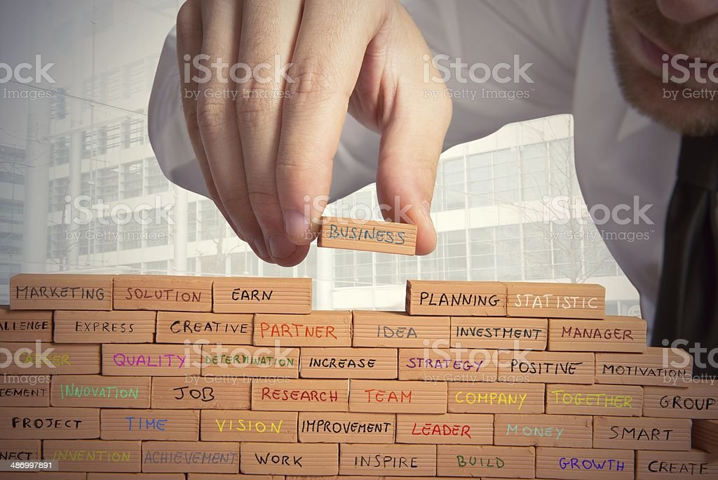 Building a business stock photo