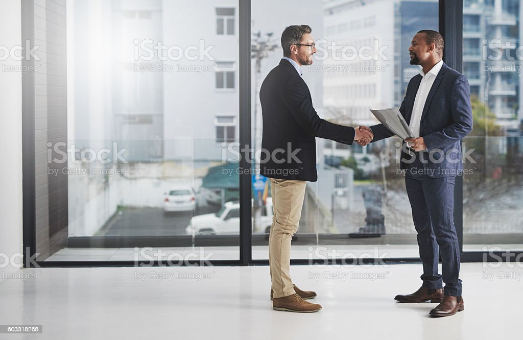 Building a business together stock photo
