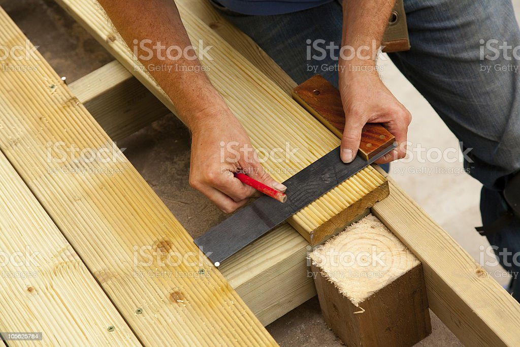 Building a Deck royalty-free stock photo