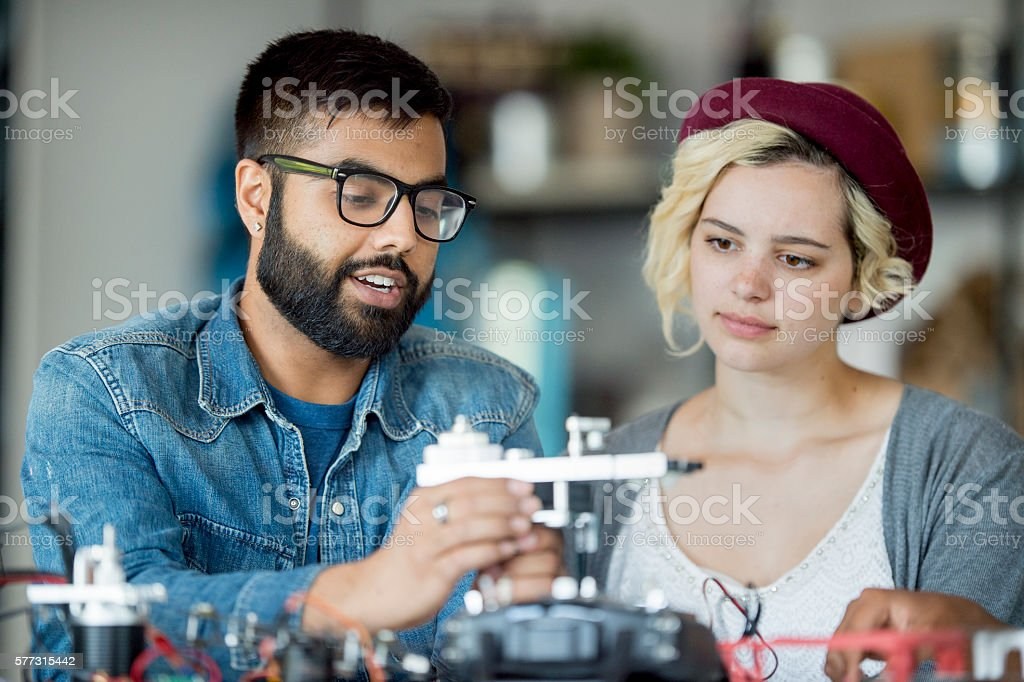 Building a Drone stock photo