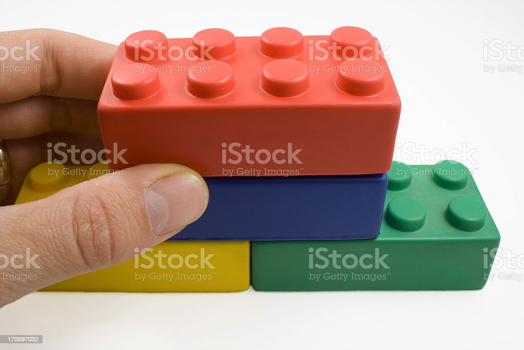 'Building a foundation' royalty-free stock photo