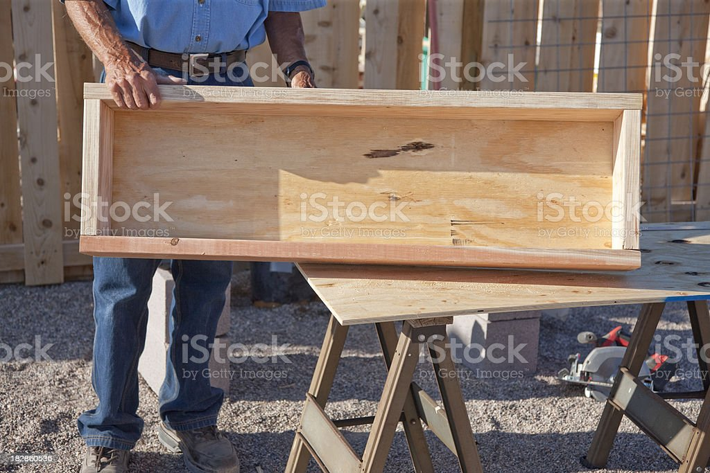 Building A Garden Box Series - Finished Product stock photo