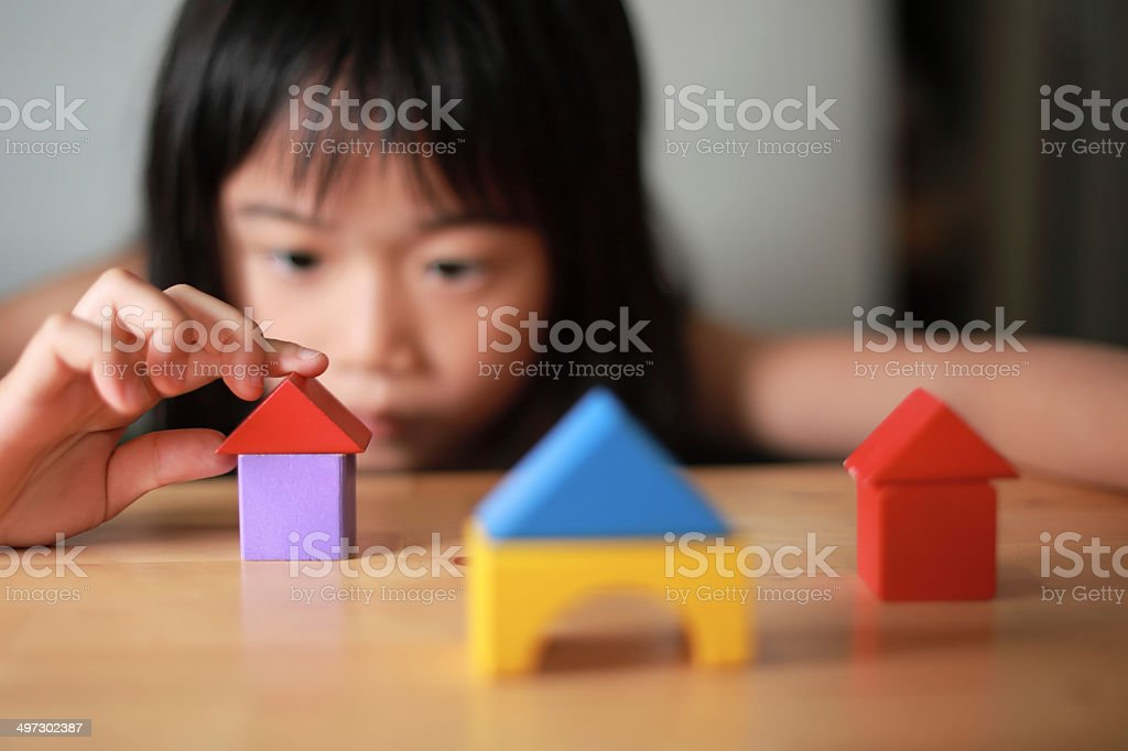 building a home stock photo