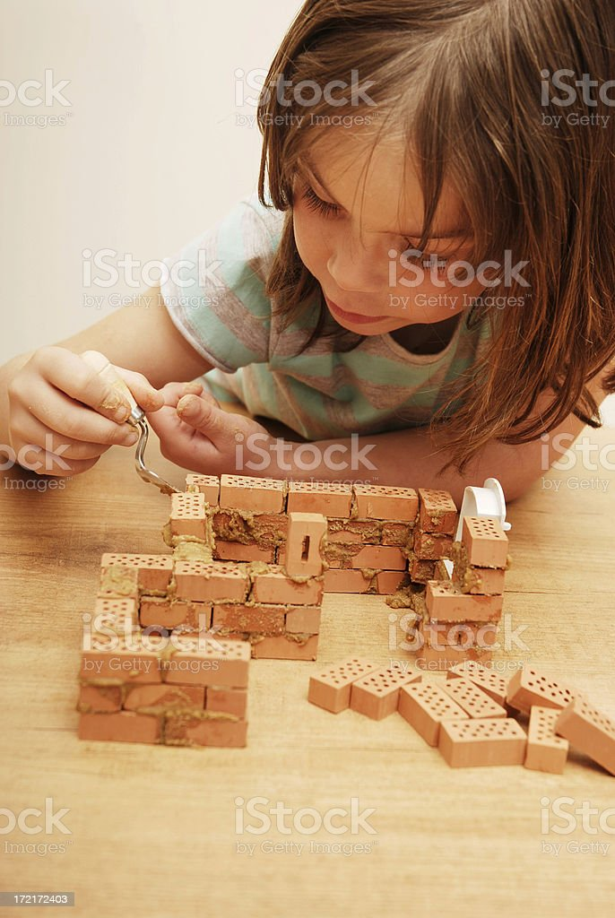 Building a house royalty-free stock photo