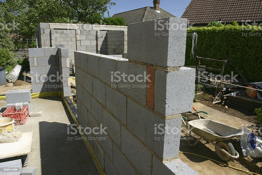 building a house wall royalty-free stock photo
