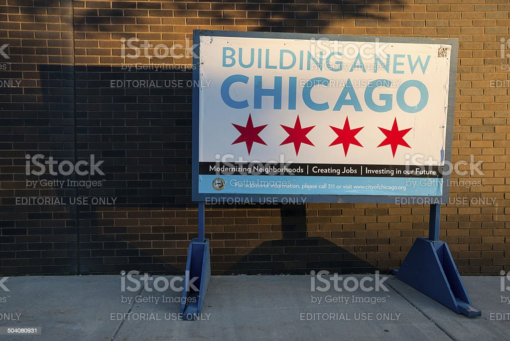 Building A New Chicago stock photo
