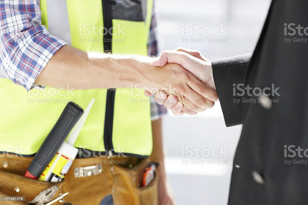 Building a new future for the city together stock photo