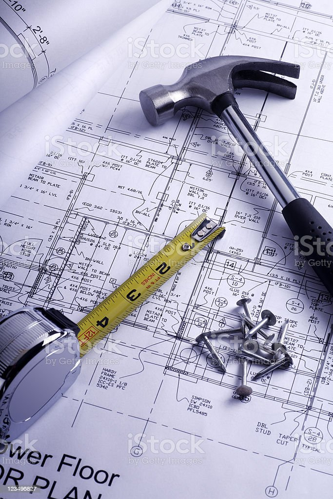 Building a new home royalty-free stock photo