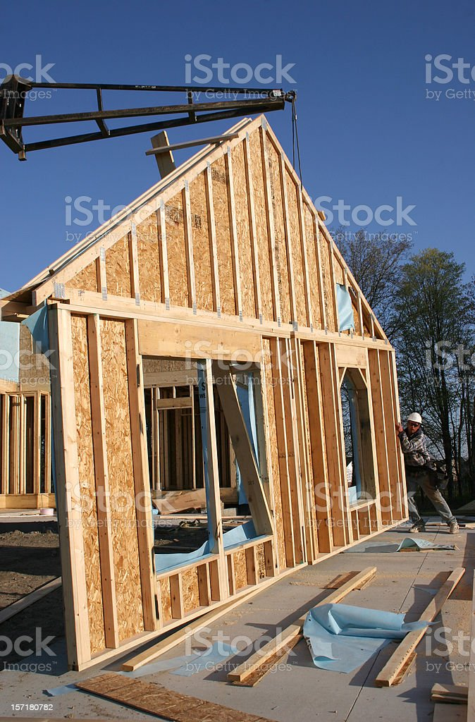Building a New Home stock photo