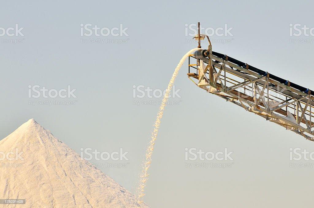 Building A Salt Pile stock photo