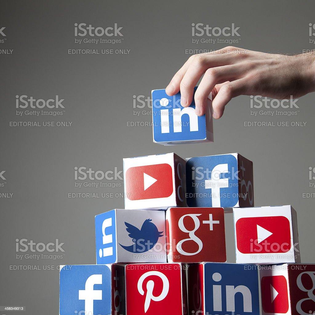 Building a social network stock photo