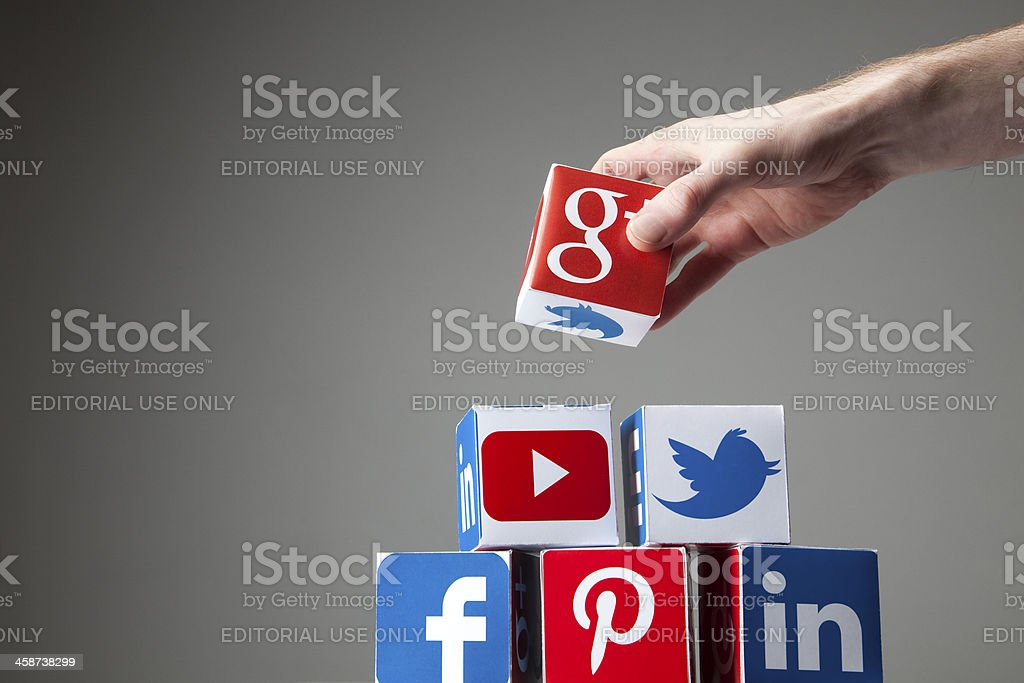 Building a social network stock photo