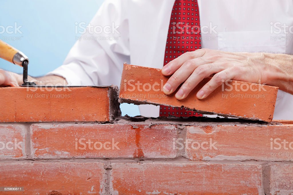 Building a Solid Business stock photo