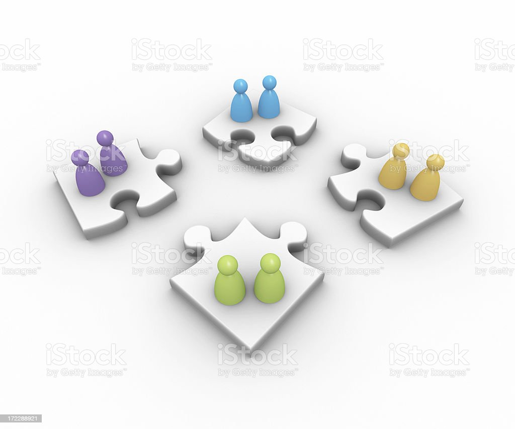Building a team royalty-free stock photo