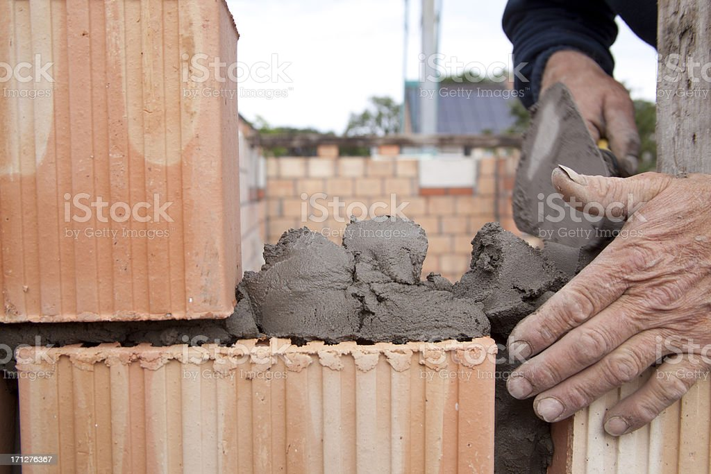building a wall royalty-free stock photo