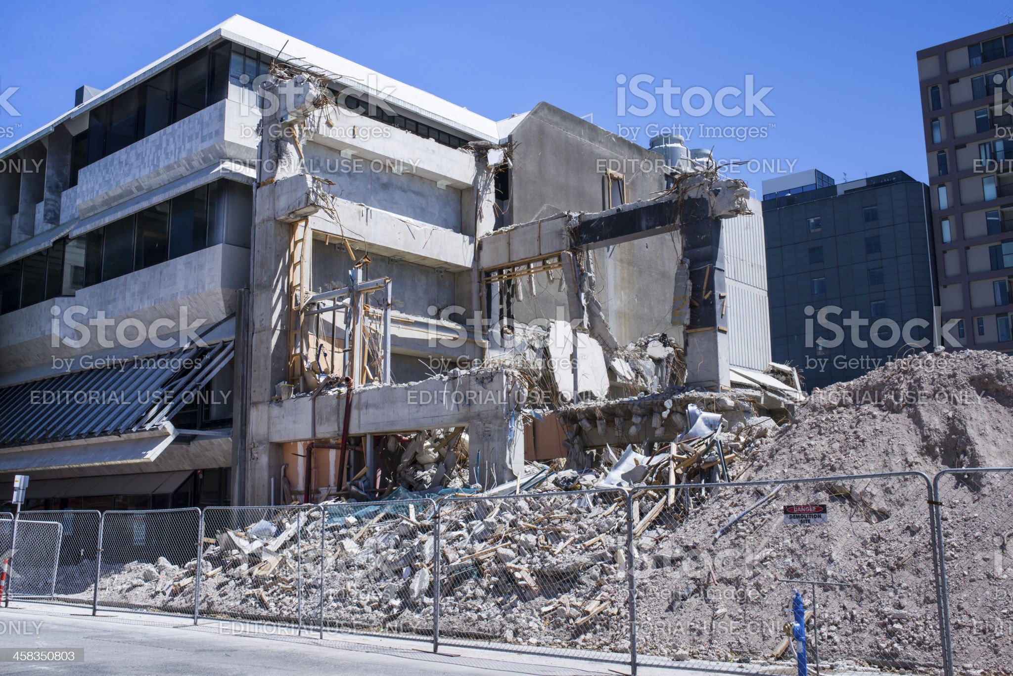 Building after Christchurch earthqauake royalty-free stock photo
