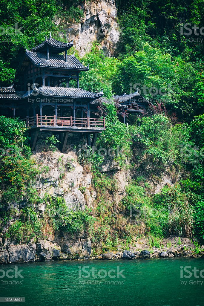 Building Along the Yangtze River, China stock photo
