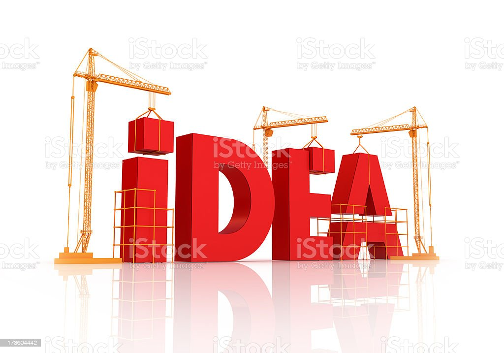 Building an idea royalty-free stock photo