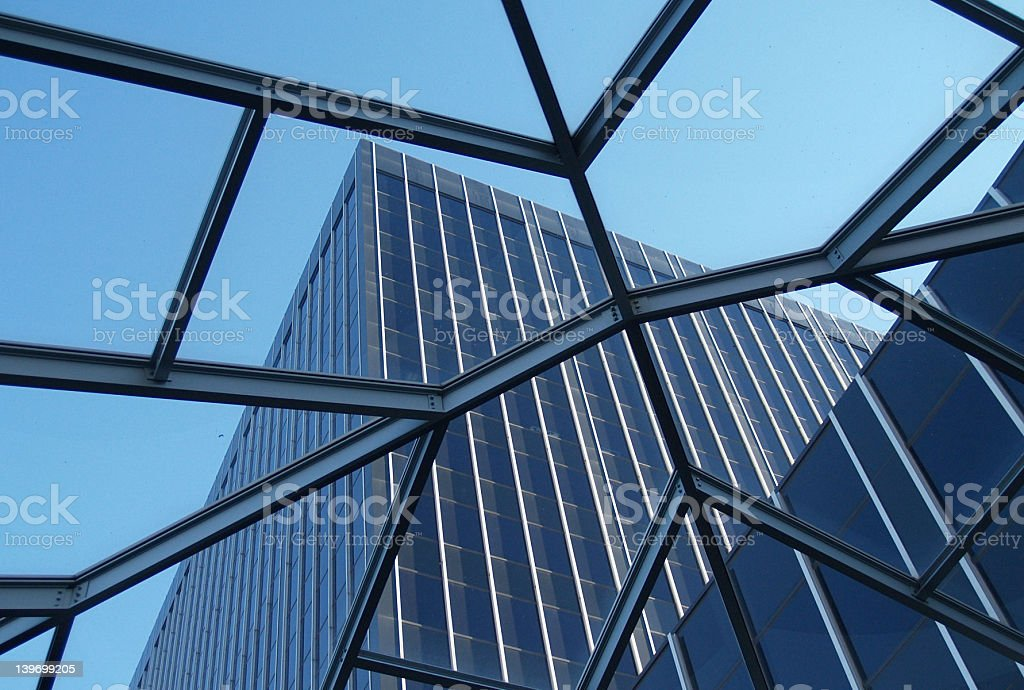 Building and glass stock photo
