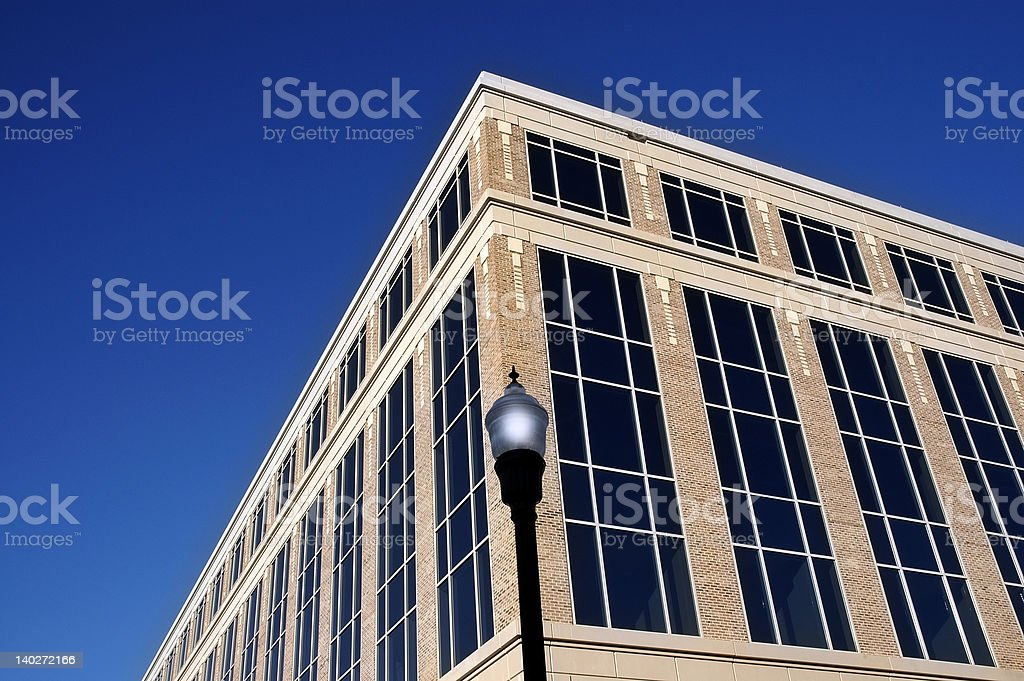Building and Lamp on the corner royalty-free stock photo