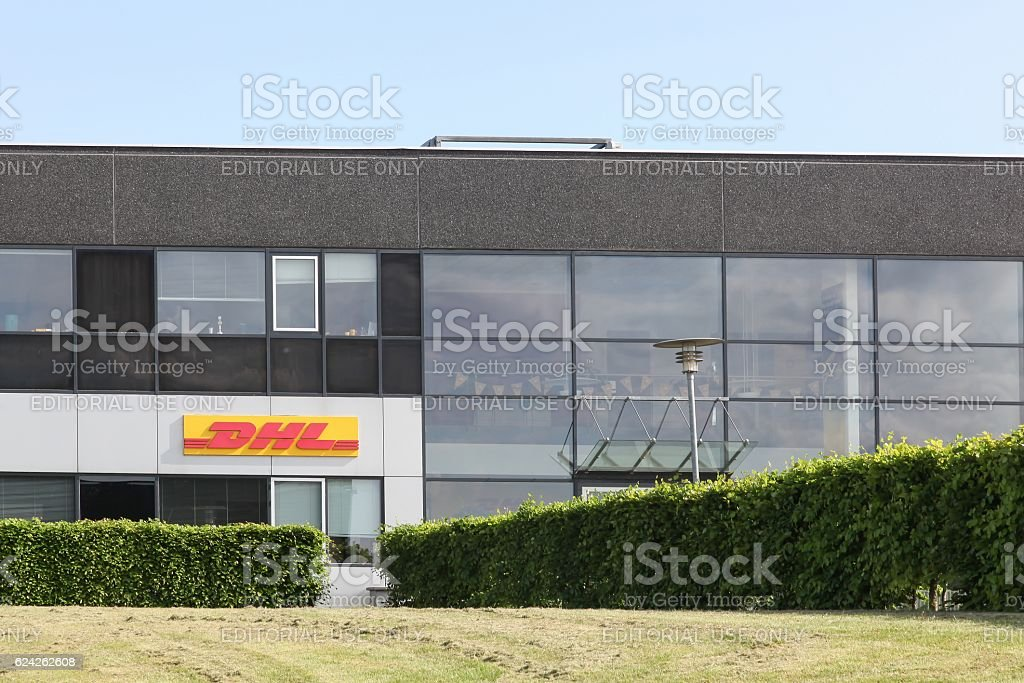 DHL building and office stock photo