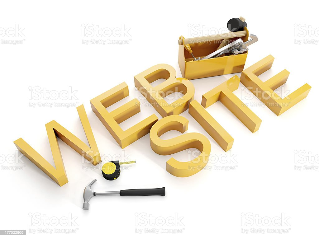Building and repair of Web sites royalty-free stock photo