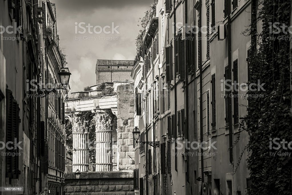 Building and ruins in Rome stock photo