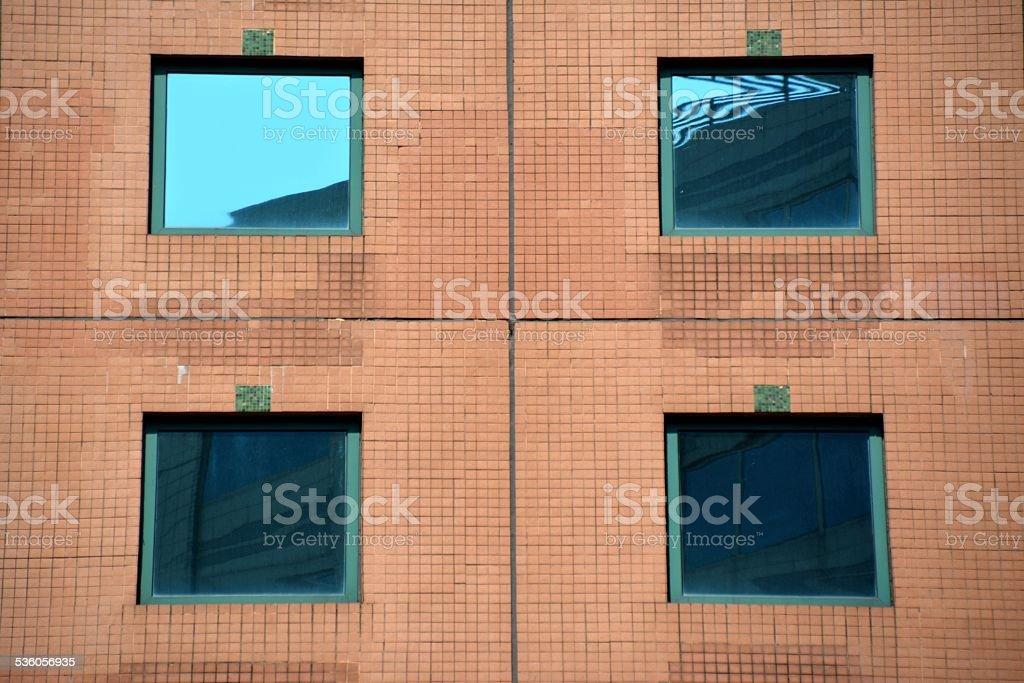 Building architecture, Hong Kong stock photo