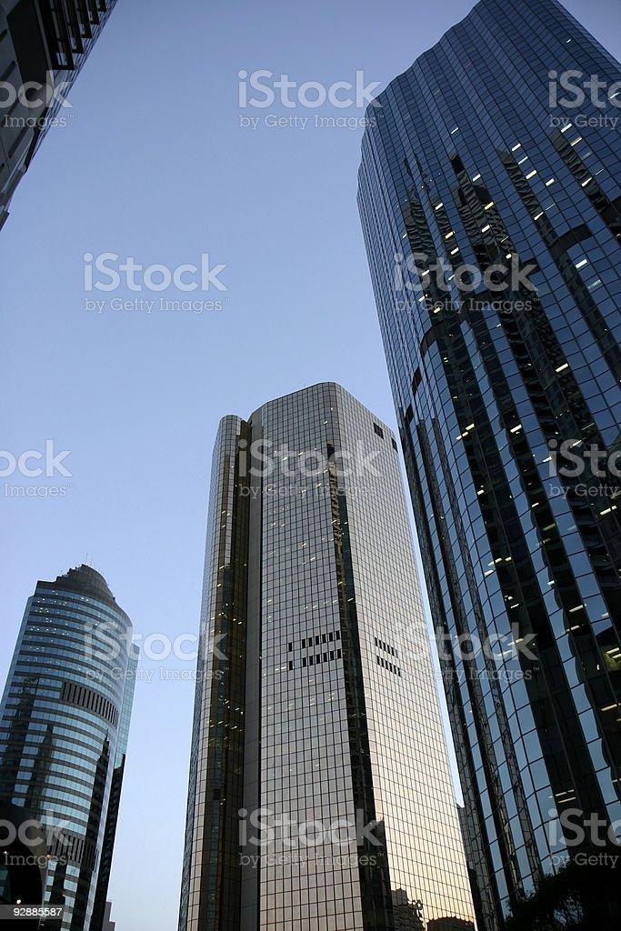 Building at dawn stock photo