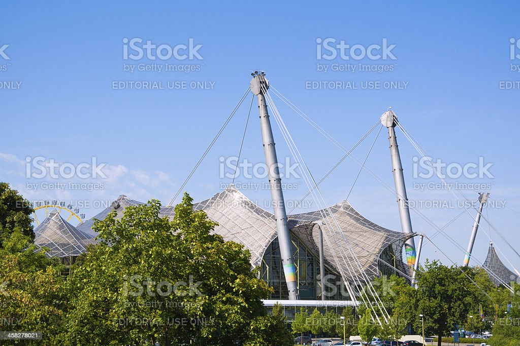 Building at Olympic Park in Munich, Germany royalty-free stock photo
